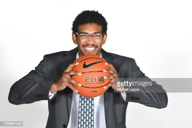 Jermaine Samuels of the Villanova Wildcats poses for a photo during the Big East Media Day at Madison Square Garden on October 19, 2021 in New York...