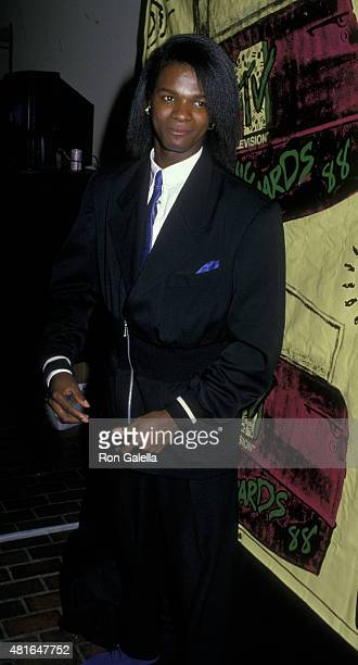 Jermaine Stewart attends Fifth Annual MTV Video Music Awards on September 7 1988 at Universal Ampitheater in Universal City California