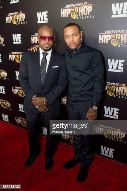 Jermanie Dupri and Shad Moss attend the 'Growing Up Hip Hop Atlanta' premiere at Woodruff Arts Center on May 23 2017 in Atlanta Georgia