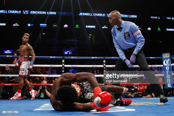 Jermell Charlo defeated Erickson Lubin by knockout in the first round on the Showtime Championship Boxing card at Barclays Center on October 14 2017