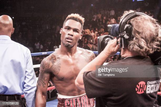 October 14: Jermell Charlo defeats Erickson Lubin by KO in the 1st round in their Super Welterweight fight at the Barclays Center in Brooklyn on...