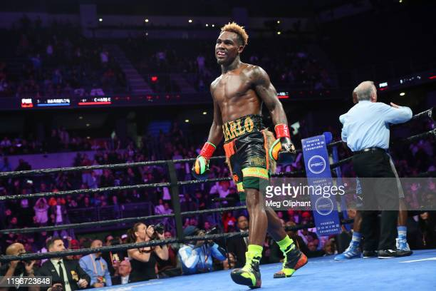 Jermell Charlo defeats Tony Harrison for the WBC World Super Welterweight Championship at Toyota Arena on December 21, 2019 in Ontario, California.