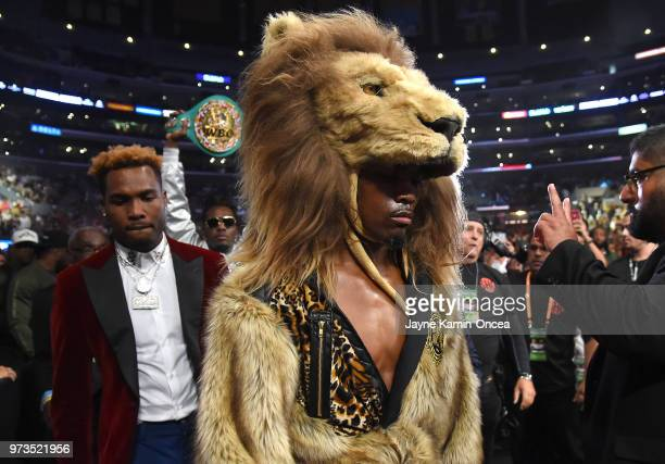 Jermell Charlo enters the arena as his twin brother Jermall Charlo follows for his fight with Austin Trout for the WBC Super Welterweight Title at...