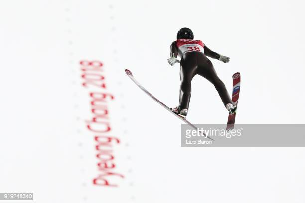 Jernej Damjan of Slovenia makes a jump during the Ski Jumping Men's Large Hill on day eight of the PyeongChang 2018 Winter Olympic Games at Alpensia...