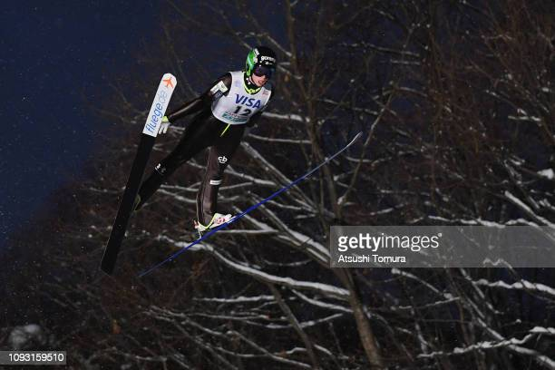 Jerneja Brecl of Slovenia competes on day one of the FIS Ski Jumping World Cup Ladies Sapporo at Okurayama Jump Stadium on January 12 2019 in Sapporo...