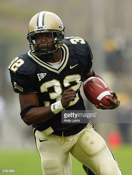 Jerod Void of Purdue carries the ball against Northwestern during the game on November 1, 2003 at Ross-Ade Stadium in West Lafayette, Indiana. Purdue...