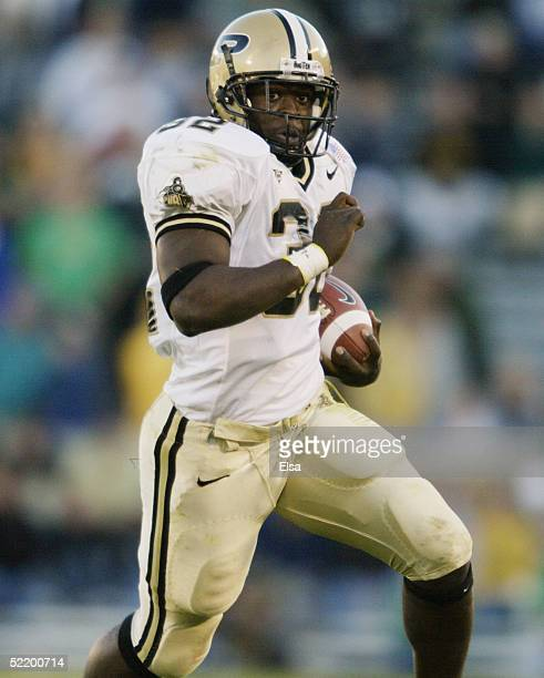 Jerod Void of the Purdue Boilermakers carries the ball during the game against the Notre Dame Fighting Irish on October 2, 2004 at Notre Dame Stadium...