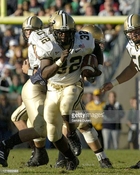 Jerod Void powers upfield in the third quarter of Purdue's 41-16 win over Notre Dame in Notre Dame Stadium, South Bend, IN 10-2-04.