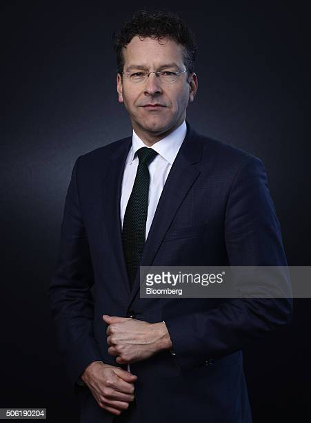 Jeroen Dijsselbloem Dutch finance minister and head of the group of euroarea finance ministers poses for a photograph following a Bloomberg...