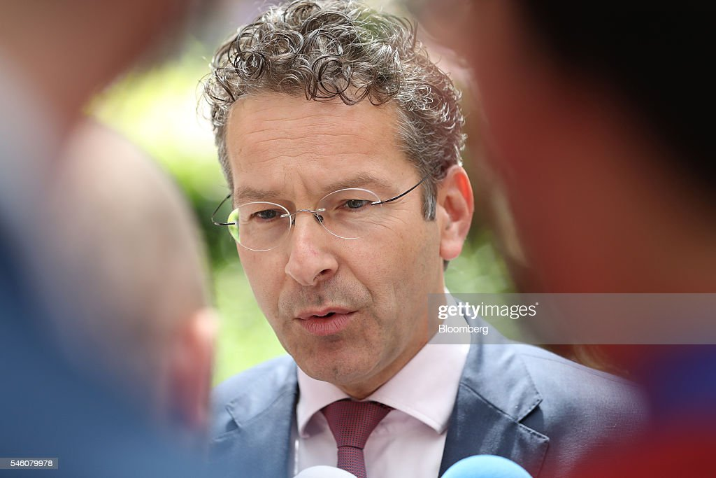 European Finance Ministers Attend Eurogroup Meeting : News Photo
