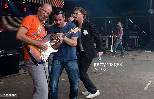 d83ca9545f6f58 Jeroen van Koningsbrugge and Dennis van der Ven of Dutch band Jurk perform  on stage during