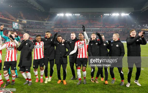 Jeroen Zoet of PSV Bart Ramselaar of PSV Jorrit Hendrix of PSV Steven Bergwijn of PSV Cody Gakpo of PSV Donyell Malen of PSV Yanick van Osch of PSV...