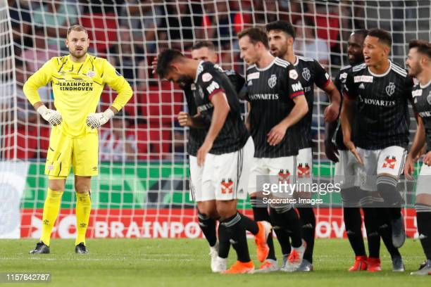 Jeroen Zoet of PSV during the UEFA Champions League match between PSV v Fc Basel at the Philips Stadium on July 23, 2019 in Eindhoven Netherlands