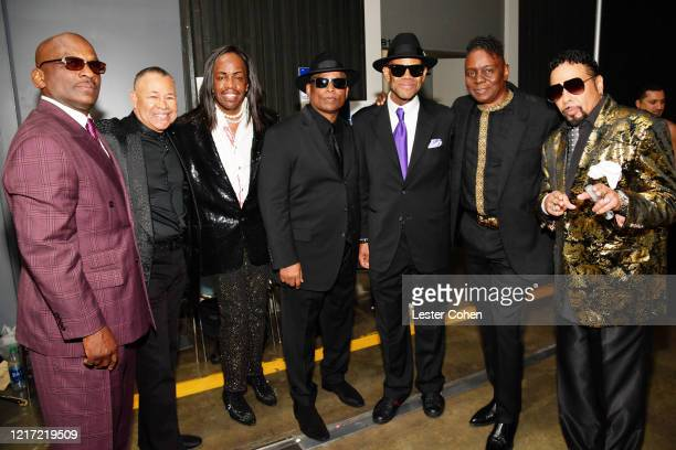 Jerome Benton Ralph Johnson Verdine White Terry Lewis Jimmy Jam Philip Bailey and Morris Day attend the 62nd Annual GRAMMY Awards Let's Go Crazy The...