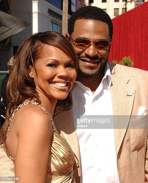 Jerome Bettis and wife Trameka Bettis during 2006 ESPY Awards Red Carpet at Kodak Theatre in Los Angeles California United States