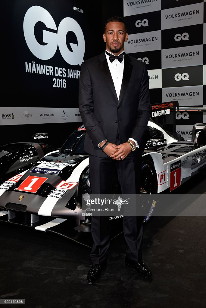 Jerome Boateng arrives at the GQ Men of the year Award 2016 (german: GQ Maenner des Jahres 2016) at Komische Oper on November 10, 2016 in Berlin, Germany.