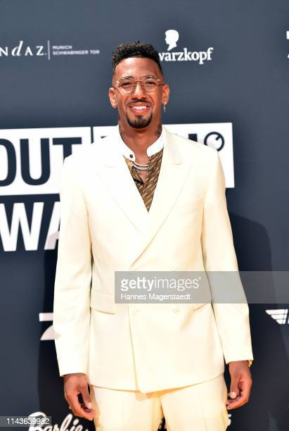 Jerome Boateng arrives for the annual ABOUT YOU Awards at Bavaria Studios on April 18 2019 in Munich Germany