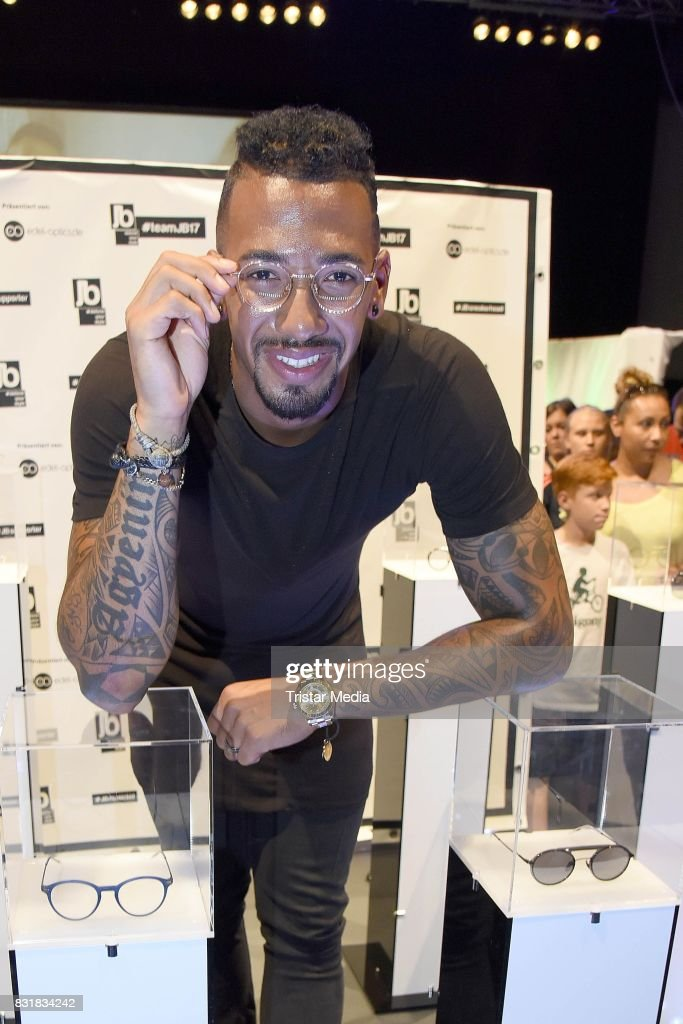 Jerome Boateng during the TeamJB17 Jerome Boateng Edel Optics glasses Kick-Off-Event on August 15, 2017 in Hamburg, Germany.