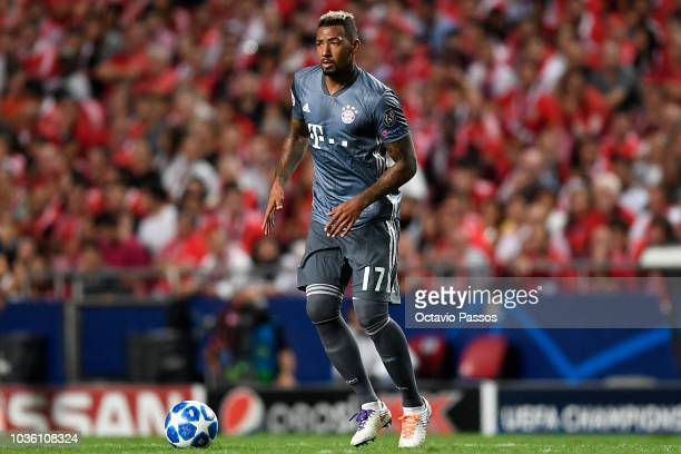 Jerome Boateng of Bayern Muenchen in action during the Group E match of the UEFA Champions League between SL Benfica and FC Bayern Muenchen at...