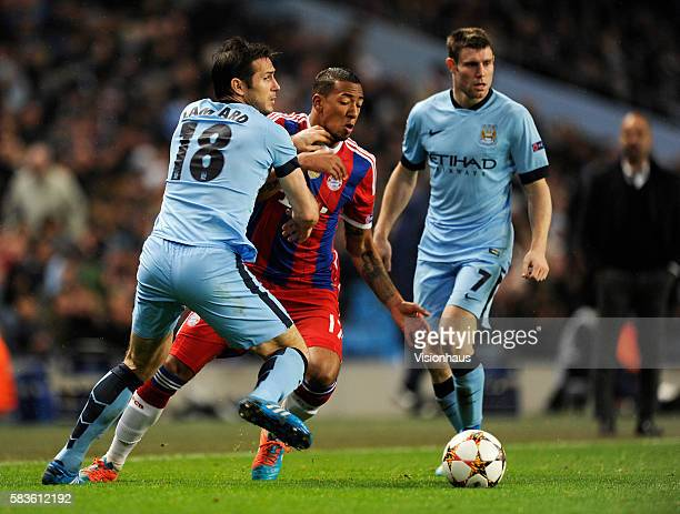 Jerome Boateng of Bayern Munich and Frank Lampard of Manchester City in action during the UEFA Champions League Group E match between Manchester City...