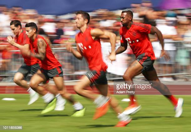 Jerome Boateng of Bayern Munich in action during the FC Bayern Munich Training Camp on August 6 2018 in RottachEgern Germany