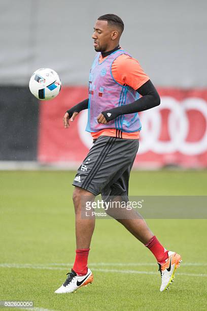 Jerome Boateng of FC Bayern Muenchen in action during a training session on May 19 2016 in Munich Germany