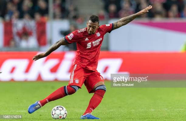 Jerome Boateng of FC Bayern Muenchen runs with the ball during the Telekom Cup 2019 Final match between Borussia Moenchengladbach and Bayern Muenchen...