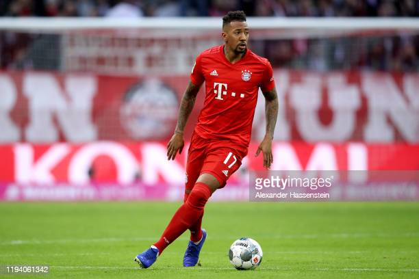 Jerome Boateng of FC Bayern Muenchen runs with the ball during the Bundesliga match between FC Bayern Muenchen and SV Werder Bremen at Allianz Arena...