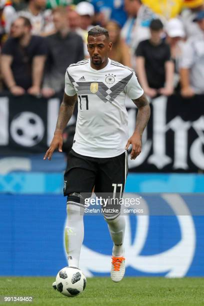 Jerome Boateng of Germany during the 2018 FIFA World Cup Russia group F match between Germany and Mexico at Luzhniki Stadium on June 17 2018 in...