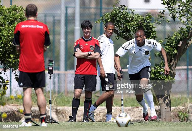 Jerome Boateng of Germany is running during the German National Team training session at Verdura Golf and Spa Resort on May 18 2010 in Sciacca Italy