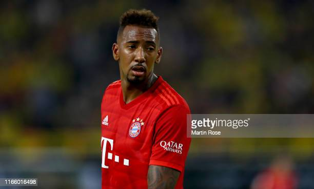 Jerome Boateng of München looks on during the DFL Supercup 2019 match between Borussia Dortmund and FC Bayern München at Signal Iduna Park on August...