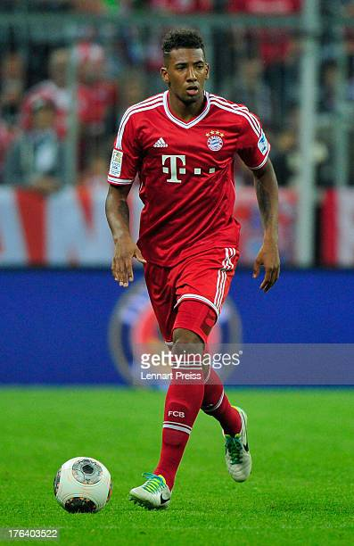 Jerome Boateng of Muenchen in action during the Bundesliga match between FC Bayern Muenchen and Borussia Moenchengladbach at Allianz Arena on August...