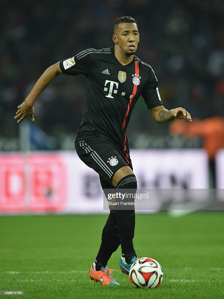 Jerome Boateng of Muenchen in action during the Bundesliga match between Hertha BSC and FC Bayern Muenchen at Olympiastadion on November 29, 2014 in Berlin, Germany.