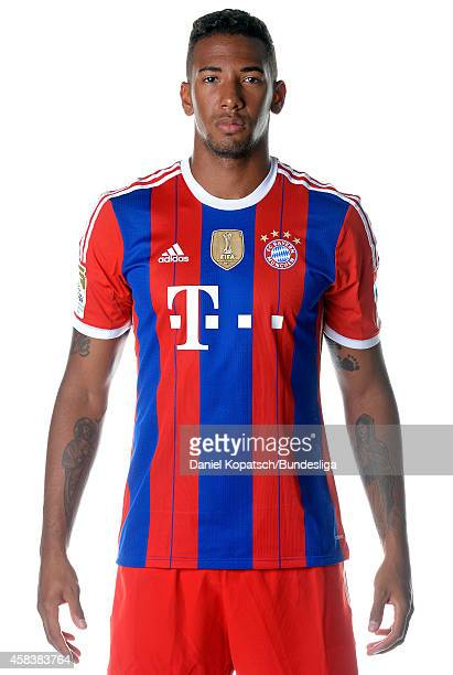 Jerome Boateng poses during the FC Bayern Muenchen Team Presentation for DFL on August 9 2014 in Munich Germany