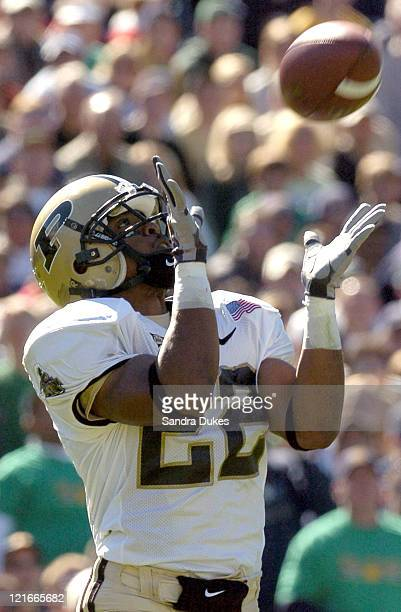 Jerome Brooks waits for a punt that he ran back for a TD in the first quarter of Purdue's 41-16 win over Notre Dame in Notre Dame Stadium, South...