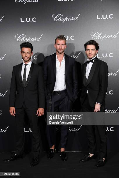 Jerome C Corentin Gruson and Bastien Treiber attend the Chopard Gentleman's Night during the 71st annual Cannes Film Festival at Martinez Hotel on...