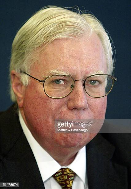 """Jerome Corsi, co-author of ?Unfit For Command,"""" speaks during a news conference at the National Press Club October 14, 2004 in Washington, DC. Corsi..."""