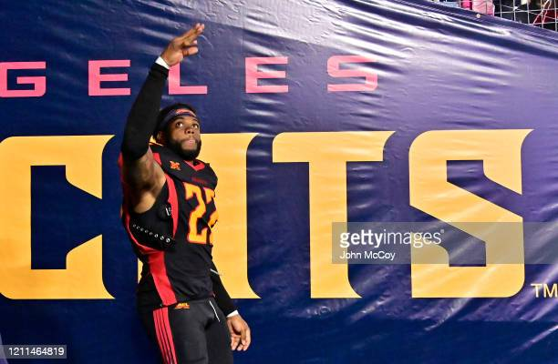 Jerome Couplin of the LA Wildcats waves to fans after playing the Tampa Bay Vipers at Dignity Health Sports Park during an XFL game on March 8 2020...