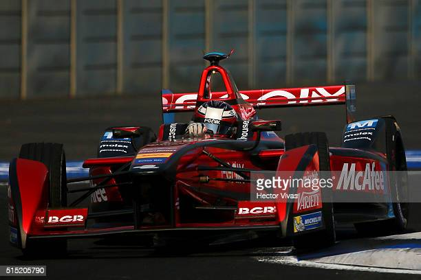 Jerome d'Ambrosio of Belgium and Dragon Racing during the Mexico City Formula E Championship 2016 at Autodromo Hermanos Rodriguez on March12, 2016 in...