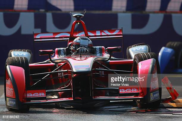 Jerome d'Ambrosio of Belgium and Dragon Racing races during the Mexico City Formula E Championship 2016 at Autodromo Hermanos Rodriguez on March12,...