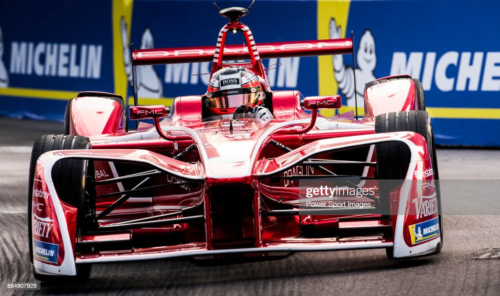 Jerome d'Ambrosio of Belgium from DRAGON competes during the FIA Formula E Hong Kong E-Prix Round 2 at the Central Harbourfront Circuit on 03 December 2017 in Hong Kong, Hong Kong.
