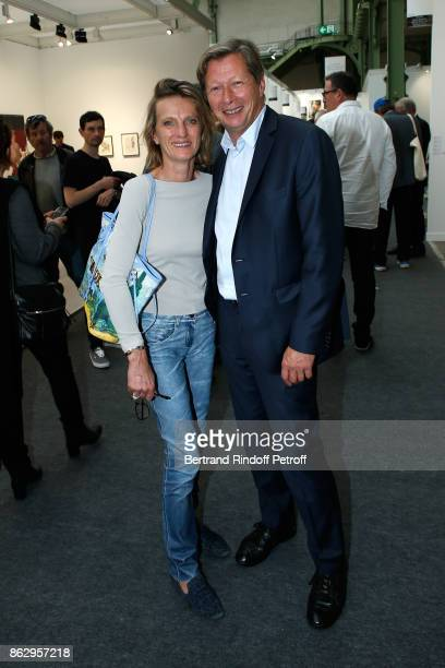 Jerome de Noirmont and his wife Emmanuelle attend the FIAC 2017 International Contemporary Art Fair Press Preview at Le Grand Palais on October 18...