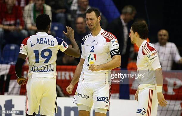 Jerome FERNANDEZ weinend nach dem Sieg Handball Männer Europameisterschaft 2012 in Serbien Hauptrunde : Frankreich - Slowenien 10 th mens european...