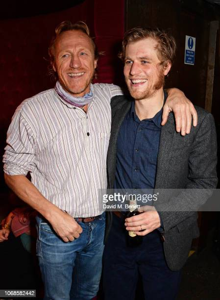 Jerome Flynn and Johnny Flynn attend the press night after party for True West at the Foundation Bar on December 4 2018 in London England