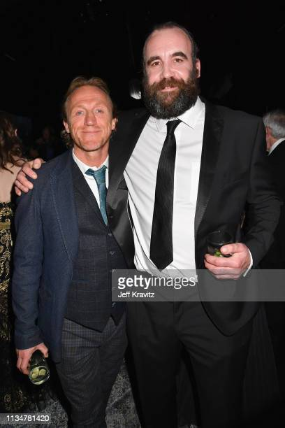 Jerome Flynn and Rory McCann attend the Game Of Thrones Season 8 NY Premiere After Party on April 3 2019 in New York City