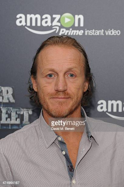 Jerome Flynn poses for the launch of drama 'Ripper Street' on Amazon Prime Instant Video on February 26 2014 in London England