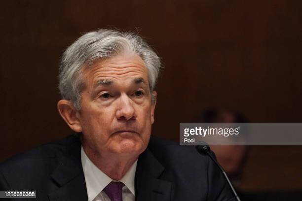 Jerome H. Powell, Chairman, Board of Governors of the Federal Reserve System during the Senate's Committee on Banking, Housing, and Urban Affairs...