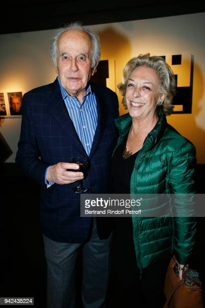 Jerome Hulot and Anne de La Beaume attend 'Sans Titre' Valerie Gans's Book Signing during 'Les Pionnieres' Exhibition at Galerie PierreAlain Challier...