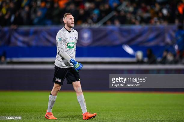 Jerome IDIR of Epinal is dejected during the French Cup Soccer match between Epinal and Saint-Etienne on February 13, 2020 at Stade Marcel Picot in...