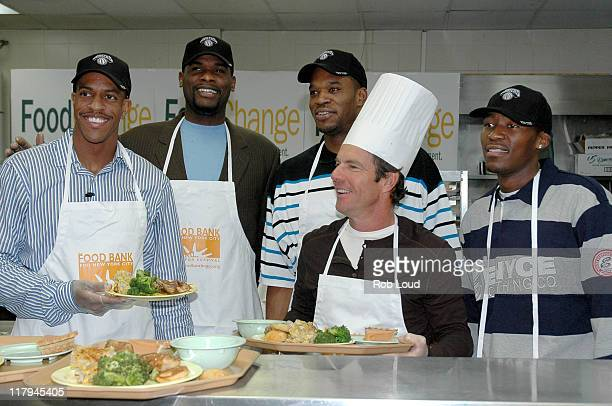 Jerome James Antonio Davis Jerome Williams Dennis Quaid and Jamal Crawford